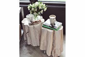 wood stump coffee table design diy tree stump side table california home design