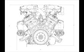 ferrari drawing ferrari f12 engine drawing