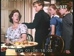 1950s family lunch on a farm