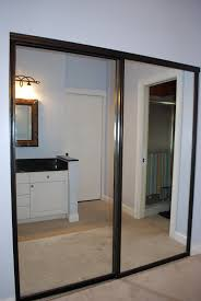 Bipass Closet Doors by Framed Mirrored Sliding Closet Doors U2022 Sliding Doors Ideas