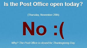 is the post office open today this website has a list of all the