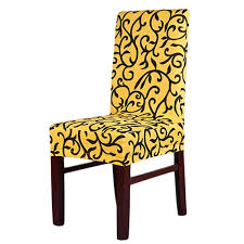 yellow chair covers wish stretch banquet slipcovers dining room wedding party