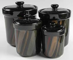 black kitchen canister sets canister sets sango avanti black 4 canister set box