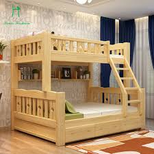 Bunk Bed Wooden Solid Wood Bunk Bed Children Bed Wooden Bed And Lower Level