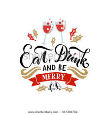 lettering eat drink be merry merry stock vector 517301794