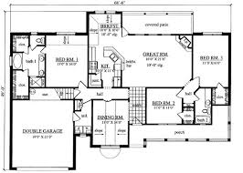 3 bedroom ranch house floor plans 3 bedroom ranch style floor plans photos and