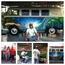 case study paint a vintage 1965 vw bus for verizon fios at vans