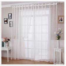 privacy curtains room dividers white yarn voile curtain drapery