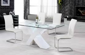White Gloss Dining Table And Chairs Chair Amazing Glass Dining Table With White Chairs And 8 Vidrian