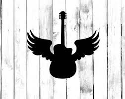 guitar with wings etsy