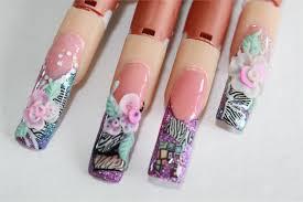 fimo inlay nail art animal print 4