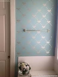 bathroom stencil ideas bee trellis stencil silver bathroom wall stenciling and