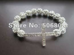 crystal cross bracelet images Mixed color howlite turquoise stone sideways cross honesty jpg