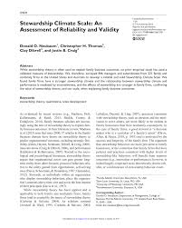 stewardship report sample stewardship climate scale an assessment of reliability and stewardship climate scale an assessment of reliability and validity pdf download available