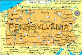 pennsylvania state map map of pennsylvania missouri map