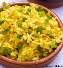 indian saffron yellow rice pilaf