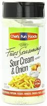 amazon com gourmet fries seasonings bottle sour cream and onion