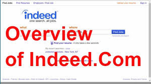 Indeed Job Resume Overview Of The Indeed Job Search Website Youtube