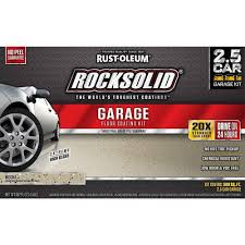 rust oleum rocksolid 152 oz mocha polycuramine 2 5 car garage