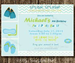 pool invitation boy pool birthday invitation pool