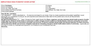 public health analyst cover letter