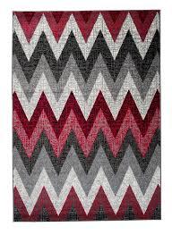 designer teppich designer teppich geometrisches zickzack muster mehrfarbig meliert