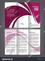 vector empty trifold brochure template print stock vector