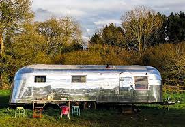 couple convert vintage 1954 airstream into a dream home on wheels