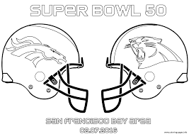 super bowl 50 football sport coloring pages printable