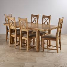 dining sets free delivery oak furniture land canterbury natural solid oak dining set 5ft extending table with 6 cross back and sage