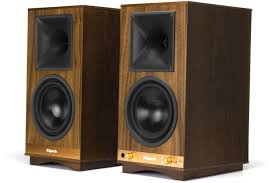 klipsch home theater speakers klipsch the sixes powered walnut speakers 1063287