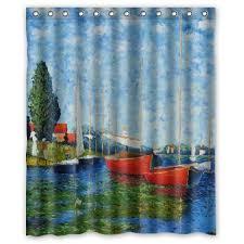 Sailboat Shower Curtains Claude Monet Shower Curtains Shower Curtains Outlet