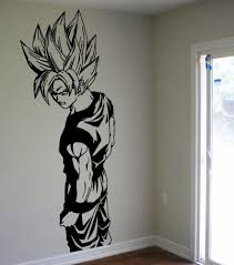wall decal cool dragon ball decals room dragon ball wall decals super saiyan goku vinyl decal dbz anime