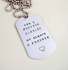 mens personalized dog tags personalized dog tags anniversary wedding mens necklace my