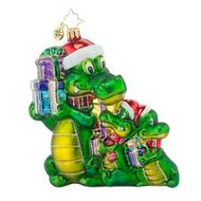 hilarious surfer ornament glass ornament green alligator 5