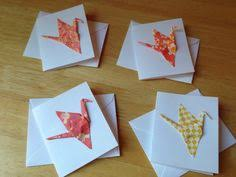 japanese origami crane card by studiolumio on etsy handmade birds