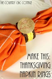 make your own thanksgiving napkin rings the country chic cottage
