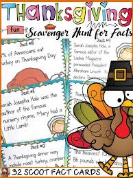 thanksgiving scavenger hunt history and tradition students