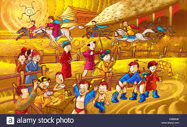 naadam festival celebration in independent mongolia stock photo