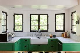 green base cabinets in kitchen green cabinets eclectic kitchen bestor architecture