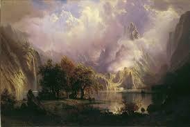 Mountain Landscape Paintings by Albert Bierstadt Rocky Mountain Landscape 1870 Artsy