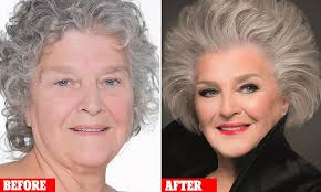 50 year old makeover make up artist gary cockerill treats grandmother to contouring