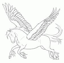 coloring pages of pegasus kids coloring