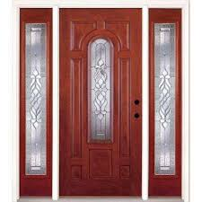6 panel stained front doors exterior doors the home depot