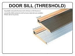 Exterior Door Threshold Installation Replace Door Threshold Replace Threshold Exterior Door Choice