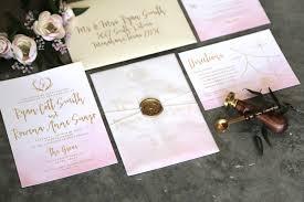 blush watercolor invitations ro