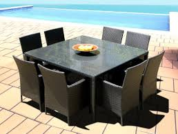 Square Patio Table Amazon Com Outdoor Patio Wicker Furniture New Resin 9 Piece