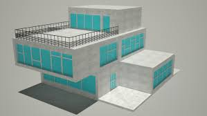 simple house free 3d model in buildings3dexport