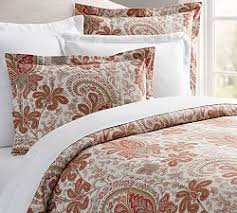 Swirly Paisley Duvet Cover Multi Colored Bedding Pottery Barn
