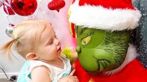the grinch costume for toddlers baby elsa kisses the grinch santa clause is kidnapped the